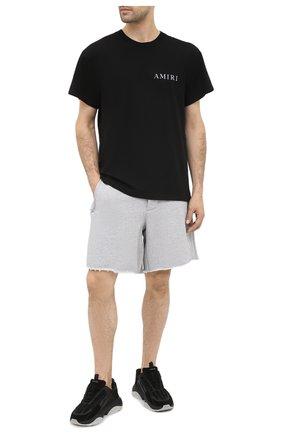 Мужские хлопковые шорты AMIRI серого цвета, арт. F0M11192TE | Фото 2