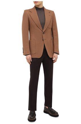 Мужские кожаные пенни-лоферы ROCCO P. темно-коричневого цвета, арт. 11001/ALCATRAZ   Фото 2