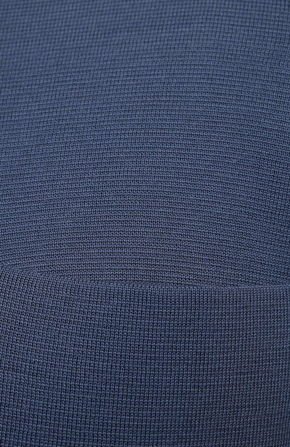 Мужской кардиган из кашемира и шерсти BRIONI синего цвета, арт. UMHH0L/09K08   Фото 5