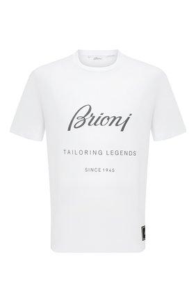 Мужская хлопковая футболка BRIONI белого цвета, арт. UJCH0L/08628 | Фото 1