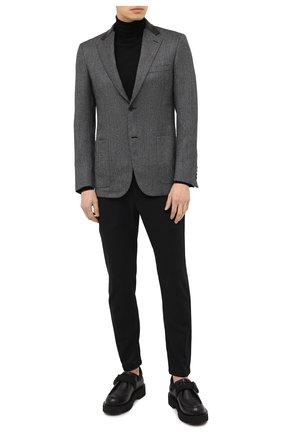 Мужской шерстяной пиджак BRIONI темно-серого цвета, арт. RGI40L/09A4L/TALETE | Фото 2