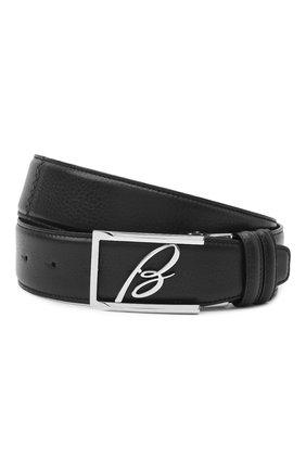 Мужской кожаный ремень BRIONI черного цвета, арт. 0BAS0L/09719 | Фото 1