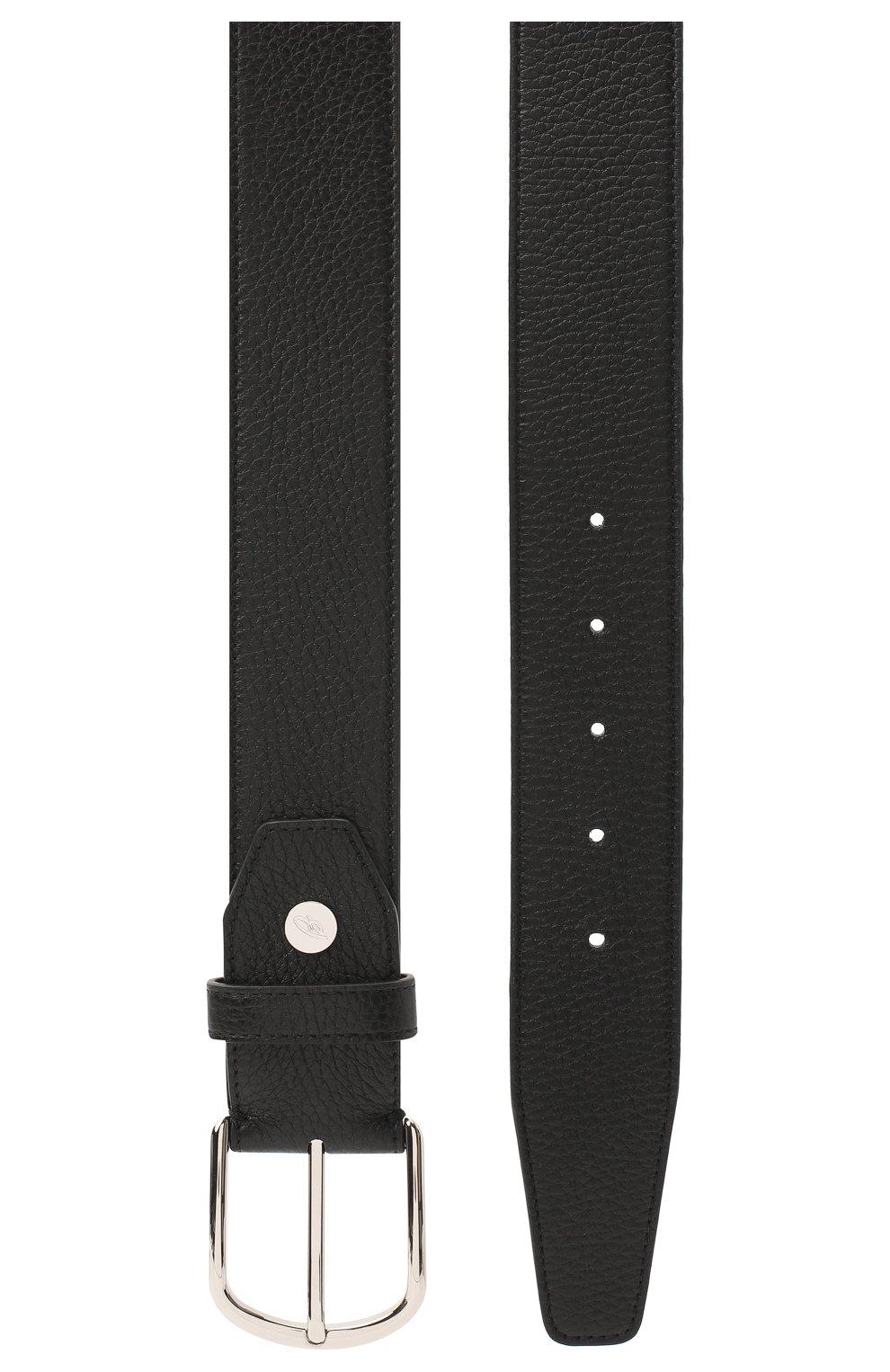 Мужской кожаный ремень BRIONI черного цвета, арт. 0BAT0L/09719 | Фото 2