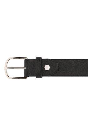 Мужской кожаный ремень BRIONI черного цвета, арт. 0BAT0L/09719 | Фото 3