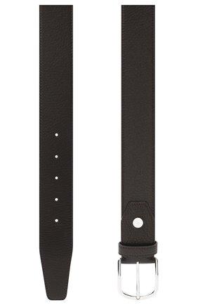 Мужской кожаный ремень BRIONI темно-коричневого цвета, арт. 0BAT0L/09719 | Фото 2