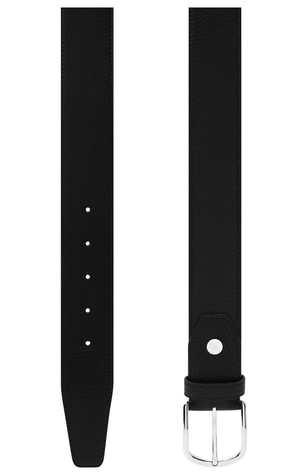 Мужской кожаный ремень BRIONI темно-синего цвета, арт. 0BAT0L/09719   Фото 2