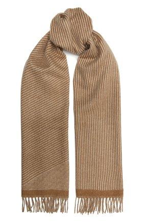 Мужской кашемировый шарф LORO PIANA бежевого цвета, арт. FAL2671 | Фото 1