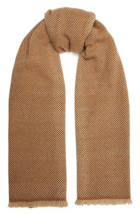 Мужской кашемировый шарф LORO PIANA бежевого цвета, арт. FAL2580 | Фото 1