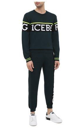 Мужской джемпер из шерсти и хлопка ICEBERG темно-зеленого цвета, арт. 20I I1P0/A013/7010 | Фото 2