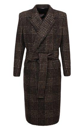 Мужской шерстяное пальто DOLCE & GABBANA коричневого цвета, арт. G024HT/FQMHZ | Фото 1