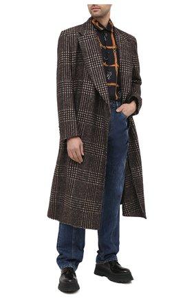 Мужской шерстяное пальто DOLCE & GABBANA коричневого цвета, арт. G024HT/FQMHZ | Фото 2