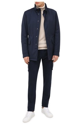 Мужской брюки-карго из хлопка и кашемира KITON темно-синего цвета, арт. UFPPCAJ02T42 | Фото 2