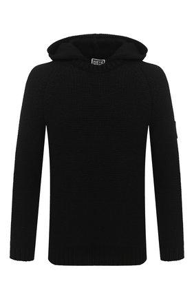 Мужской кашемировый свитер GIORGIO ARMANI черного цвета, арт. 6HSMF9/SM76Z   Фото 1
