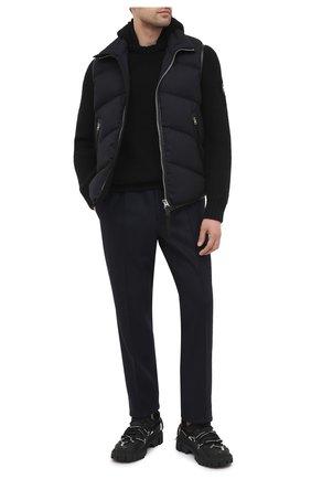 Мужской кашемировый свитер GIORGIO ARMANI черного цвета, арт. 6HSMF9/SM76Z   Фото 2