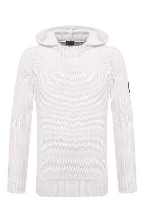 Мужской кашемировый свитер GIORGIO ARMANI белого цвета, арт. 6HSMF9/SM76Z   Фото 1 (Материал внешний: Шерсть; Длина (для топов): Стандартные; Рукава: Длинные; Принт: Без принта; Стили: Кэжуэл)
