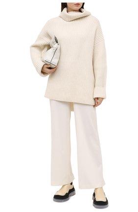 Женские кожаные ботинки bv tire BOTTEGA VENETA светло-бежевого цвета, арт. 630300/VBS50 | Фото 2