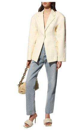 Женские кожаные мюли BOTTEGA VENETA кремвого цвета, арт. 608854/VBSS0   Фото 2