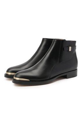 Женские кожаные ботинки GIORGIO ARMANI черного цвета, арт. X1M359/XC976 | Фото 1