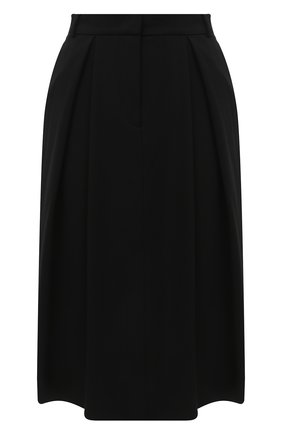 Женская шерстяная юбка GIORGIO ARMANI черного цвета, арт. 0WHNN043/T01QW | Фото 1