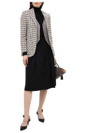 Женская шерстяная юбка GIORGIO ARMANI черного цвета, арт. 0WHNN043/T01QW | Фото 2