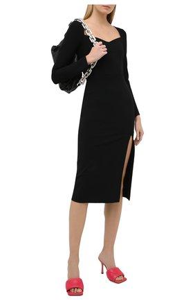 Женские кожаные мюли bv rubber lido BOTTEGA VENETA розового цвета, арт. 639943/VBP30 | Фото 2