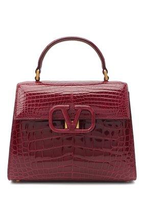Женская сумка valentino garavani vsling из кожи аллигатора VALENTINO бордового цвета, арт. UW2B0F53/XDE/AMIS | Фото 1