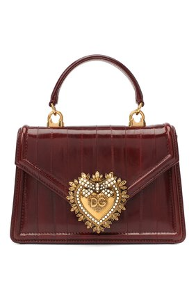 Женская сумка devotion small DOLCE & GABBANA бордового цвета, арт. BB6711/A8M24 | Фото 1