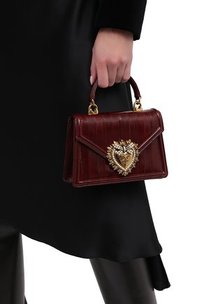 Женская сумка devotion small DOLCE & GABBANA бордового цвета, арт. BB6711/A8M24 | Фото 2