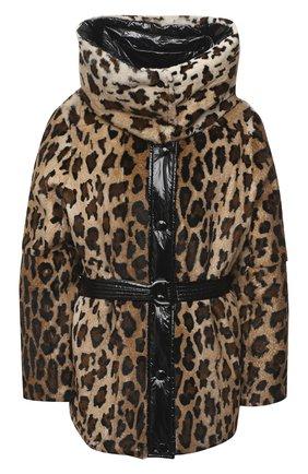 Женский пуховик YVES SALOMON леопардового цвета, арт. 21WYV01070F58X | Фото 1