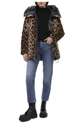 Женский пуховик YVES SALOMON леопардового цвета, арт. 21WYV01070F58X | Фото 2