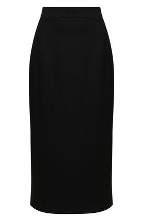 Женская шерстяная юбка ALESSANDRA RICH черного цвета, арт. FAB2307-F2937 | Фото 1