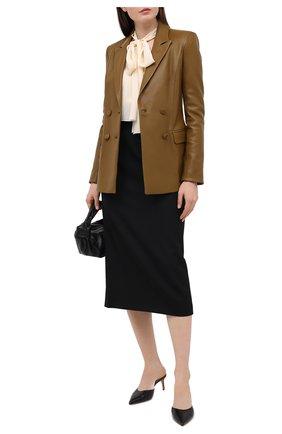 Женская шерстяная юбка ALESSANDRA RICH черного цвета, арт. FAB2307-F2937 | Фото 2