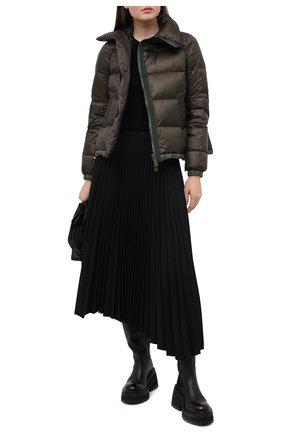 Женский пуховая куртка SACAI хаки цвета, арт. SCW-037 | Фото 2