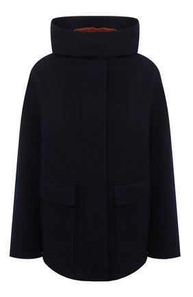 Женское кашемировое пальто LORO PIANA темно-синего цвета, арт. FAL2410 | Фото 1