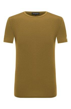 Мужские футболка ERMENEGILDO ZEGNA хаки цвета, арт. N3M201080   Фото 1