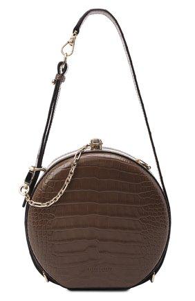 Женская сумка canteen из кожи аллигатора RALPH LAUREN коричневого цвета, арт. 435790384AMIS   Фото 1