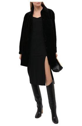 Женский жакет из меха норки KUSSENKOVV черного цвета, арт. 741520002531 | Фото 2