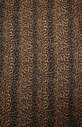 Женская шаль из кашемира и шелка SAINT LAURENT леопардового цвета, арт. 634037/3Y619 | Фото 2
