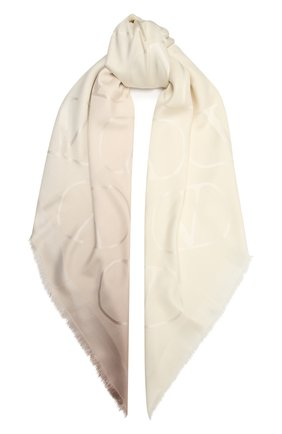 Женская шаль из шелка и шерсти VALENTINO кремвого цвета, арт. UW0EB104/ZVG | Фото 1