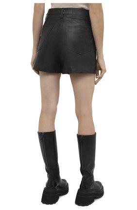 Женские кожаные шорты RAG&BONE черного цвета, арт. WCW20F9000LE00 | Фото 4 (Женское Кросс-КТ: Шорты-одежда; Стили: Гламурный; Длина Ж (юбки, платья, шорты): Мини; Материал подклада: Синтетический материал)
