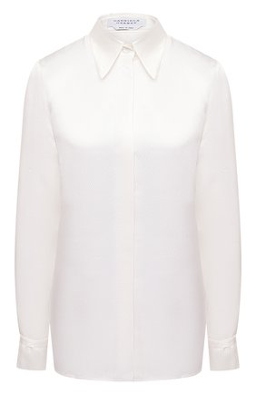 Женская шелковая рубашка GABRIELA HEARST белого цвета, арт. 120117 S030 | Фото 1