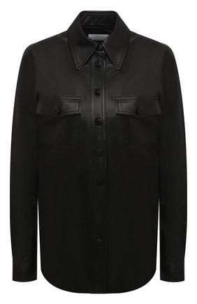 Женская кожаная рубашка GABRIELA HEARST черного цвета, арт. 120128 L001 | Фото 1