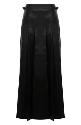 Женская кожаная юбка GABRIELA HEARST черного цвета, арт. 120317 L001   Фото 1