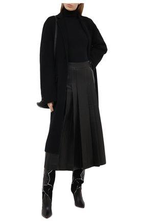 Женская кожаная юбка GABRIELA HEARST черного цвета, арт. 120317 L001   Фото 2