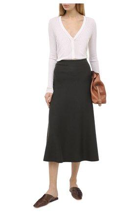 Женская юбка из шерсти и шелка GABRIELA HEARST хаки цвета, арт. 120933 A004 | Фото 2