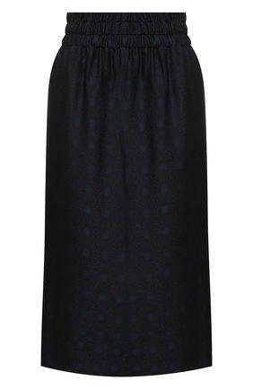 Женская юбка из вискозы и шелка DRIES VAN NOTEN темно-синего цвета, арт. 202-10880-1331 | Фото 1