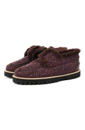 Женские кожаные ботинки LE SILLA темно-коричневого цвета, арт. 6188R020M1LLBUR | Фото 1