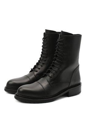 Женские кожаные ботинки ANN DEMEULEMEESTER черного цвета, арт. 2002-2802-P-390-099 | Фото 1