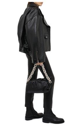 Женские кожаные ботинки ANN DEMEULEMEESTER черного цвета, арт. 2002-2802-P-390-099 | Фото 2