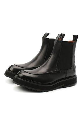 Женские комбинированные ботинки JOSEPH черного цвета, арт. J035026A/12070 | Фото 1